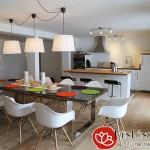 Các mẫu đèn thả bàn ăn chung cư hiện đại
