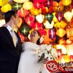 Đèn lồng Hội An trang trí tiệc cưới truyền thống