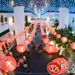 Đèn lồng Hội An trang trí trung tâm thương mại