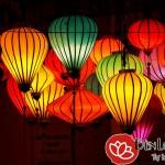 Các mẫu đèn lồng Việt trang trí biệt thự phong cách truyền thống