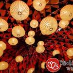 Lồng đèn lụa trang trí mùa Trung thu truyền thống