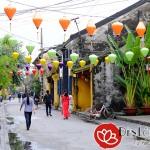 Lồng đèn Hội An trang trí đường phố vào ngày Tết