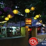 Đèn lồng treo cây trang trí cafe sân vườn