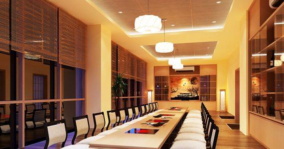 Mẫu đèn lồng trang trí nhà hàng Nhật